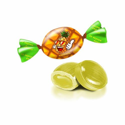 Карамель «Долька счастья» вкус ананаса 1 кг
