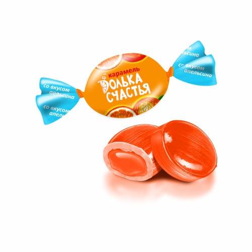 Карамель «Долька счастья» вкус апельсина 1 кг