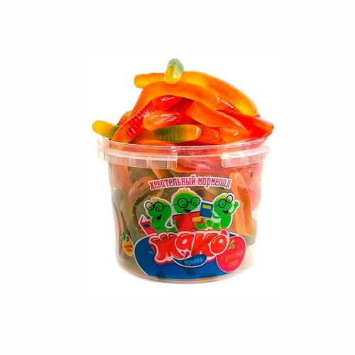 Мармелад жевательный Жако (червячки) 0,5 кг